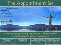 Web site design for The Appointment Biz